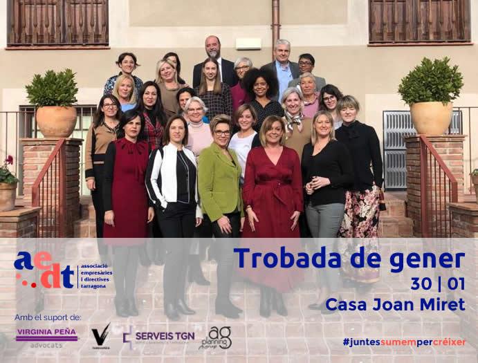 Foto de grup Trobada de gener a la Casa Joan Miret