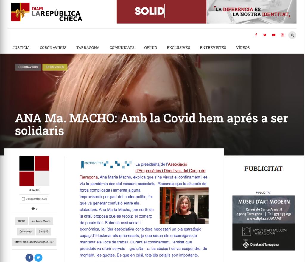 Entrevista a l'Ana Macho